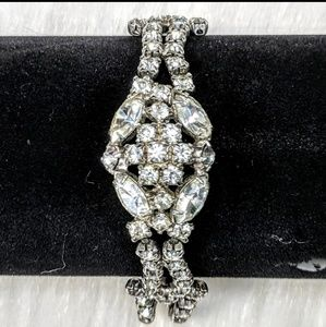 Art-Deco Rhinestone Bracelet